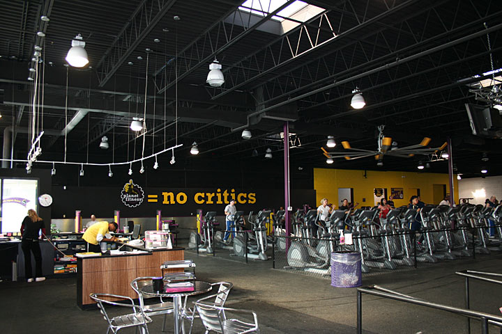 Interior of the Planet Fitness space